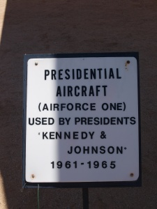Air Force One sign